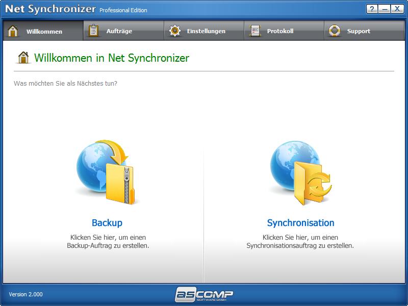 Screenshot vom Programm: Net Synchronizer